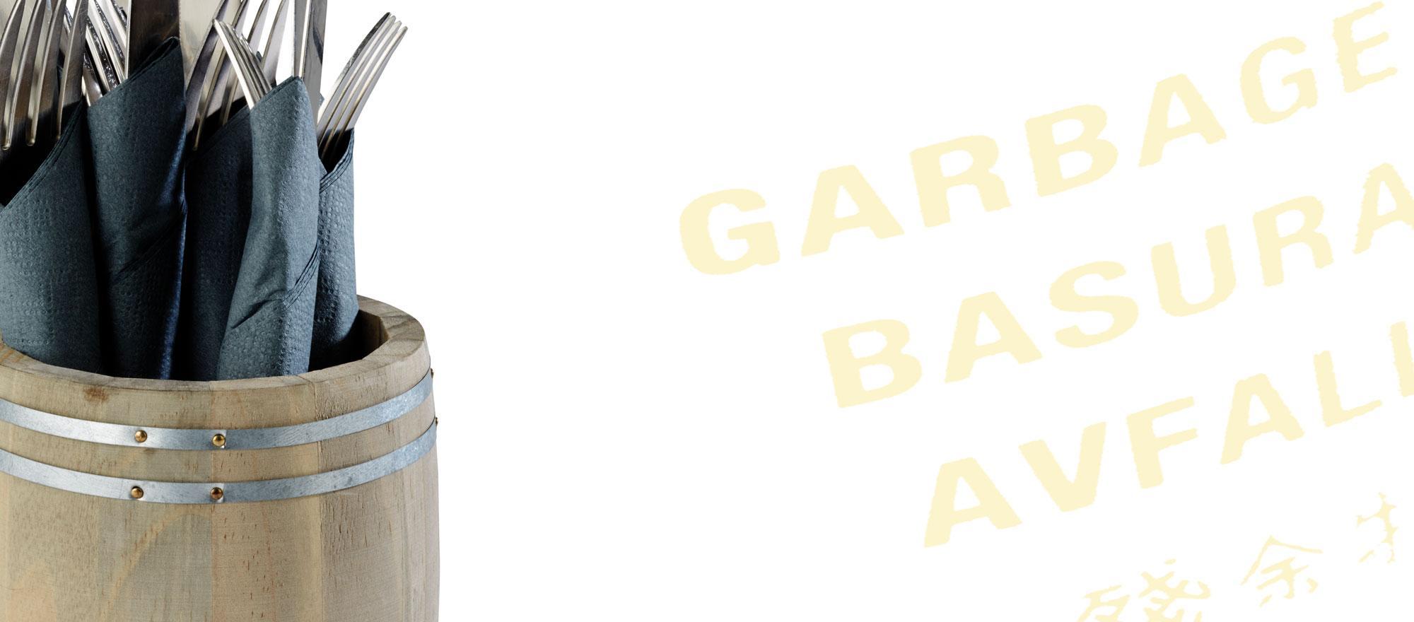 TABLE GARBAGE BINS / CUTLERY BINS