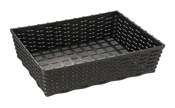 "basket for bread or fruits ""WICKER LOOK"""