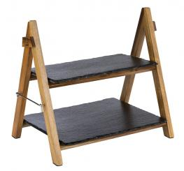 serving stand, 2-tier