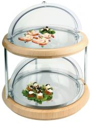 double refrigerated buffet display