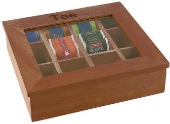 tea-box transparent, brown