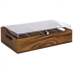 """cutlery box with cover """"ACACIA"""""""