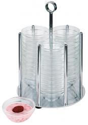"bowl holder ""MEDIUM"" transparent, stainless steel"