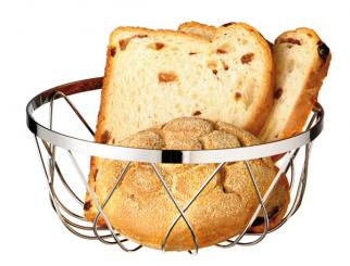 basket for bread or fruits 18 x 18 x 7,5 cm