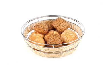 buffet basket, round