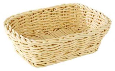 basket, rectangular Hellbeige