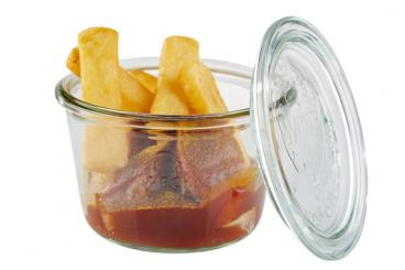 Weck-glasses with lid, 3 pcs.