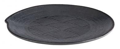"plate ""DARK WAVE"" 22 x 22 x 2 cm"